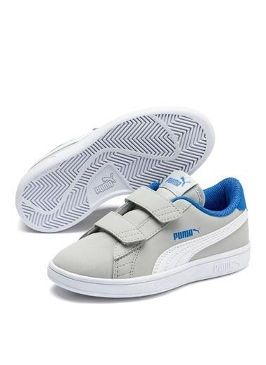 Puma Puma 36518315 Puma Smash v2 Buck Gri - Mavi Erkek Çocuk Yürüyüş Ayakkabısı Gri